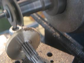 taillage des dents sur la nouvelle roue