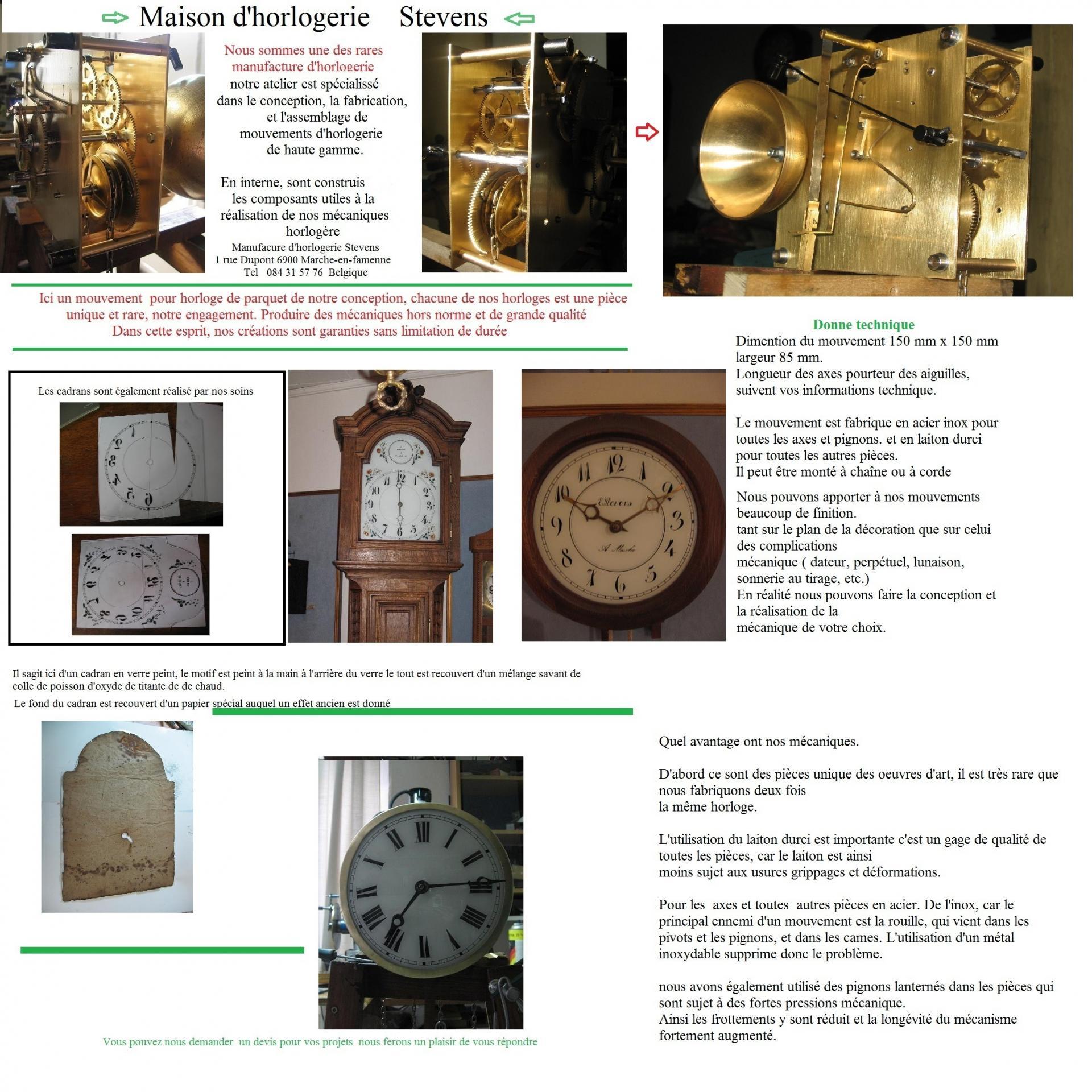 Mouv horloge de parquet 4