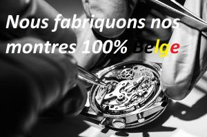 Maître horloger créateur Stevens des montres 100 % belges